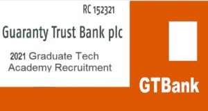 Required Qualifications Minimum of a bachelor's degree from a reputable university in Engineering, Mathematics, Physics, Computer Science or Statistics, Minimum of 5 O 'Level credits (including English and Mathematics) Completion of NYSC is mandatory How to Apply GTBank 2021 Graduate Tech Academy Recruitment Interested and Qualified Applicants should: Click here to apply